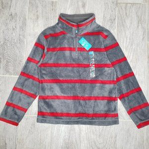 Children's Place Striped Zip Up Turtleneck Sweater